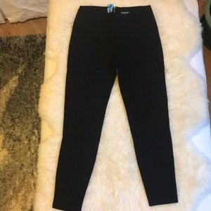 Bebe High Waist Black Leggings Zip Size Medium